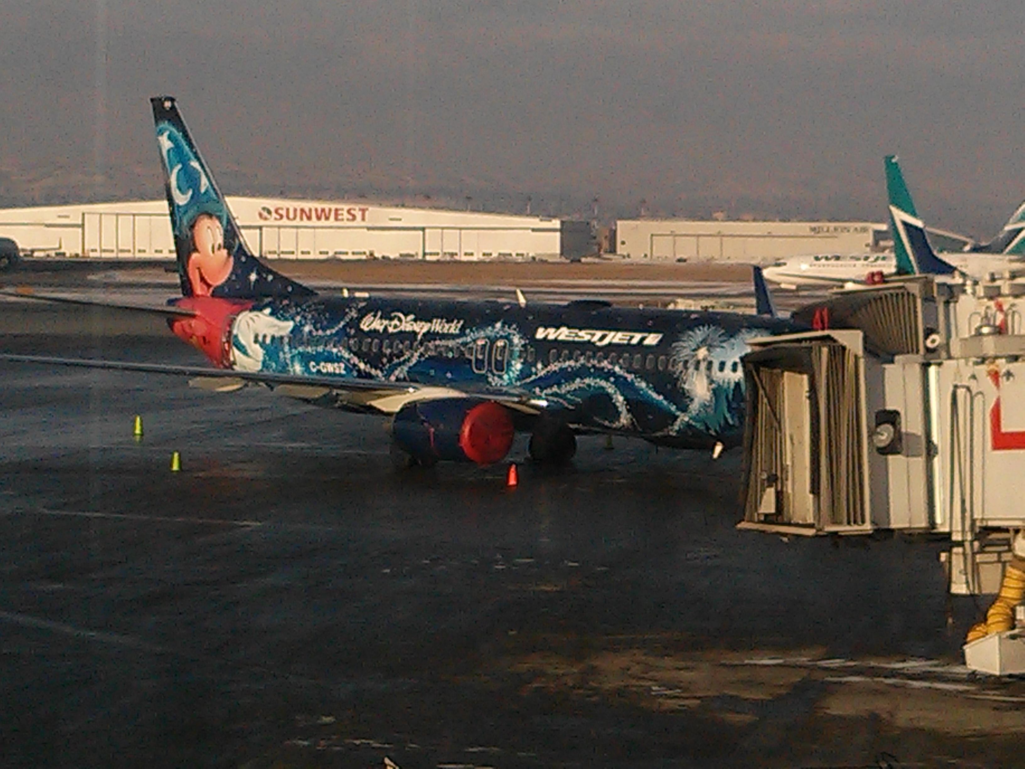 Disney Westjet plane!