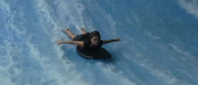 Hailey mastering the FlowRider