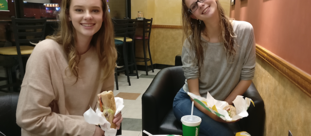 Day 19 – Dinner at Subway